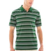 St. John's Bay® Short-Sleeve Striped Performance Polo