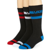 Vans® 3-pk. Striped Crew Socks