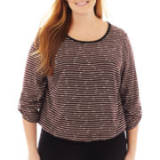 Alyx® 3/4-Sleeve Striped Banded Top - Plus