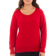 Worthington® Crewneck Pullover Sweater