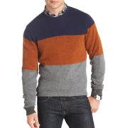 IZOD® Tri-Striped Crewneck Sweater