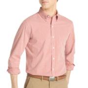 IZOD® Long-Sleeve Slim-Fit Gingham Shirt