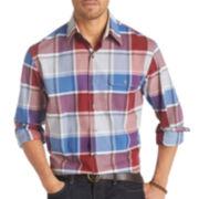 IZOD® Long-Sleeve Plaid Woven Shirt