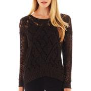 i jeans by Buffalo Long-Sleeve Open-Stitch Sweater