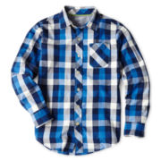 Arizona Long-Sleeve Woven Shirt - Boys 6-18 Husky