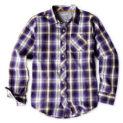 Arizona Long-Sleeve Woven Shirt - Boys 6-18 Husky