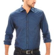 Michael Brandon Long-Sleeve Iridescent Woven Shirt