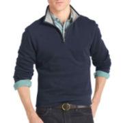 IZOD® Solid Quarter-Zip Fleece Pullover