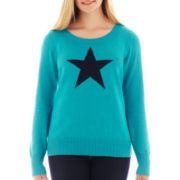 Arizona Long-Sleeve Cable Knit Sweater - Plus