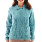 Alfred Dunner® Grand Canyon Solid Cable Cardigan Sweater