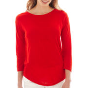 a.n.a® 3/4-Sleeve Scoopneck T-Shirt
