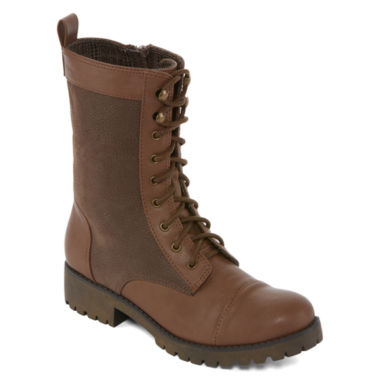 jcpenney.com | Groove Silver Womens Combat Boots