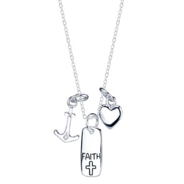 jcpenney.com | Footnotes Womens Faith Anchor Heart Pendant Necklace