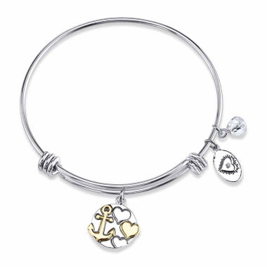 jcpenney.com | Footnotes Womens Strength Hope Love Brass Bangle Bracelet