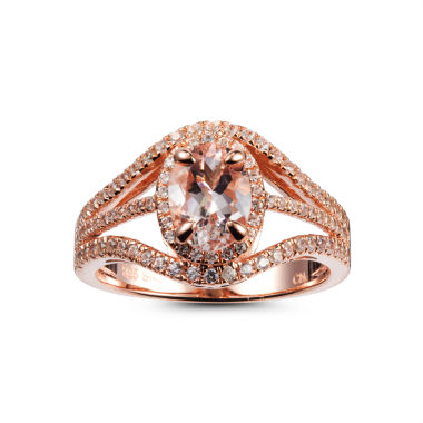 jcpenney.com | Womens Pink Morganite Gold Over Silver Cocktail Ring