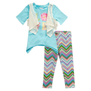 jcpenney.com | Young Land Legging Set-Toddler Girls