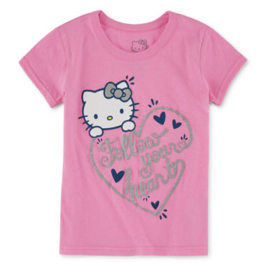 jcpenney.com | Hello Kitty Girls Hello Kitty Graphic T-Shirt-Preschool