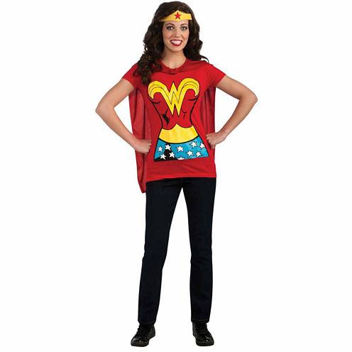 Wonder Woman T-Shirt Adult Costume Kit - Medium