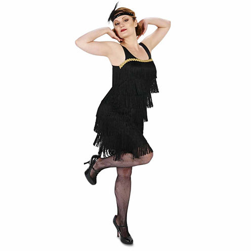 Black Flapper 2-pc. Dress Up Costume