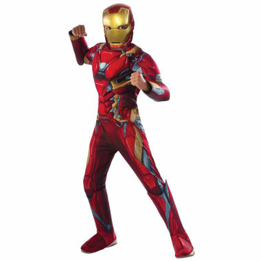 jcpenney.com | Captain America Civil War Iron Man Muscle Chest Marvel 3-pc. Dress Up Costume