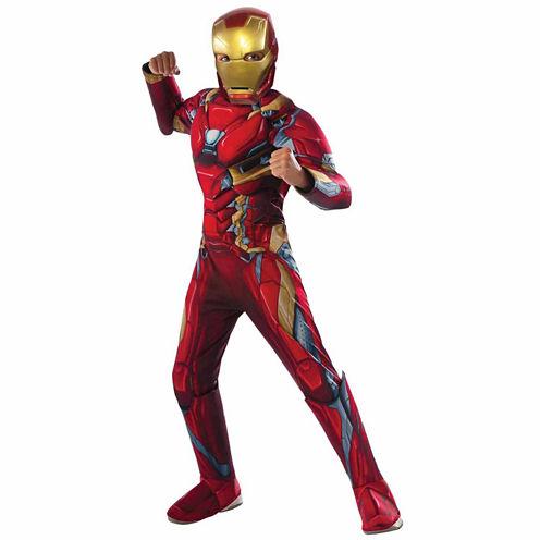 Captain America Civil War Iron Man Muscle Chest 3-pc. Marvel Dress Up Costume