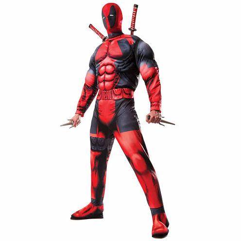 Mens Deadpool 3-pc. Marvel Dress Up Costume