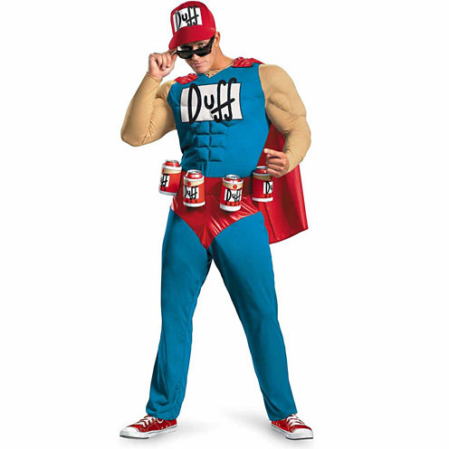 The Simpsons - Duffman 4-pc. Dress Up Costume Plus