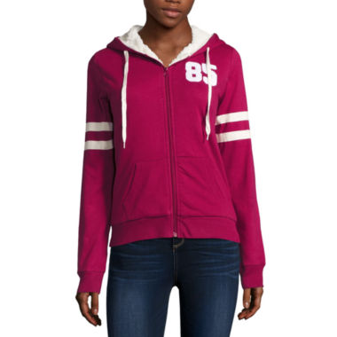 jcpenney.com | Flirtitude Active Sherpa Lined Hoodie- Juniors