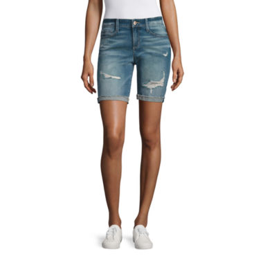 jcpenney.com | Arizona Raw Cuff Bermuda Shorts Juniors