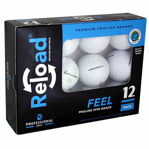 12 Pack of Taylormade Recycled Golf Balls.
