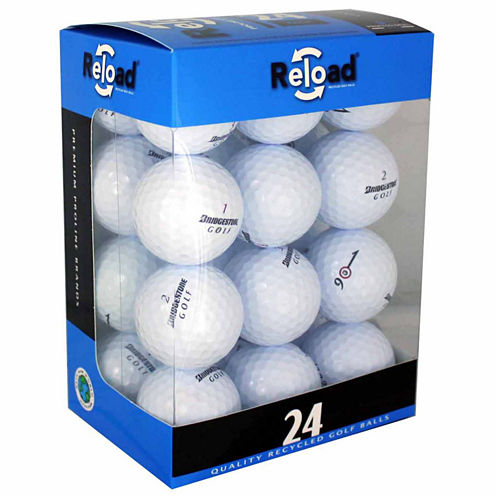 24 Pack of Bridgestone Recycled Golf Balls.