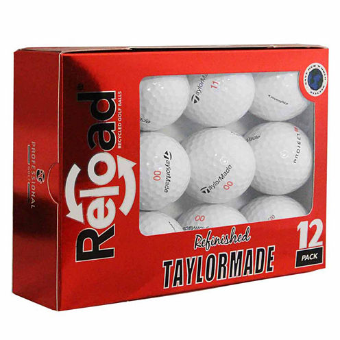 12 Pack Taylormade Project (a) Refinished Golf Balls.