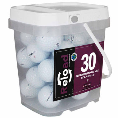 jcpenney.com | 30 pack Titleist Prov1X Refinished Golf Balls in a reusable plastic bucket with handle.