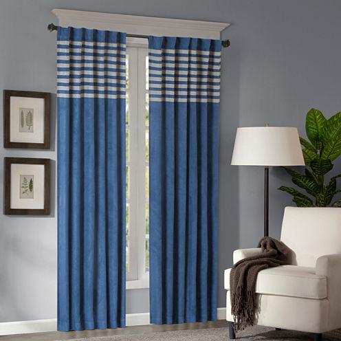 Warner Microsuede 2-Pack Rod-Pocket Curtain Panels
