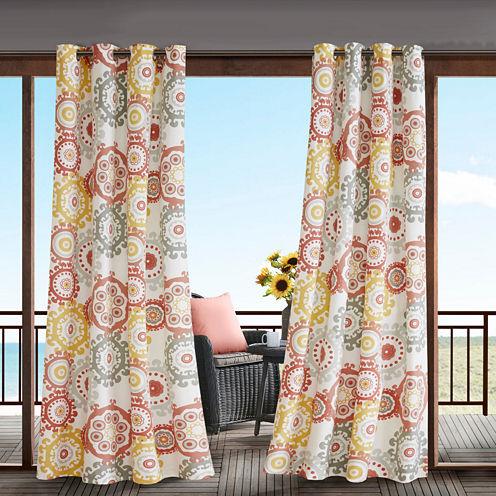 Madison Park Carmel Grommet-Top Outdoor Curtain