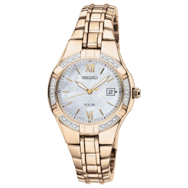 jcpenney.com | Seiko® Womens Diamond-Accent Solar Watch SUT070