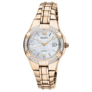 Seiko® Womens Diamond-Accent Solar Watch
