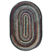 Chestnut Knoll Black Sea Braided Oval Rugs