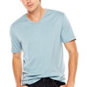 jcp™ Pima Cotton V-Neck T-Shirt