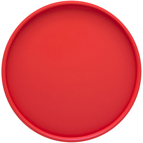 "Round 14"" Serving Tray with Raised Rim"