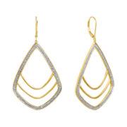 Diamond Addiction 1/10 CT. T.W. Diamond Geometric Dangle Earrings