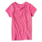 Joe Fresh™ Sequin Sleeve Tee - Girls 4-14