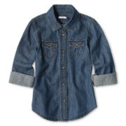 Joe Fresh™ Goes-with-Everything Chambray Shirt - Girls 4-14