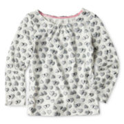 Joe Fresh™ Foil Heart Top - Girls 1t-5t