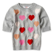 Joe Fresh™ Heart Sweater - Girls 1t-5t