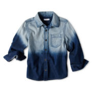 Joe Fresh™ Woven Denim Shirt - Boys 1t-5t