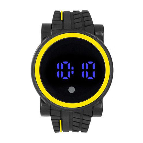 Mens Black Strap Watch-33358