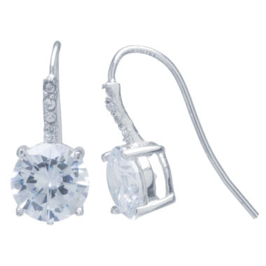 jcpenney.com | Silver Treasures White Cubic Zirconia Sterling Silver Drop Earrings