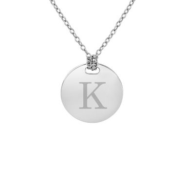 jcpenney.com | Personalized Sterling Silver 16mm Round Initial Pendant Necklace