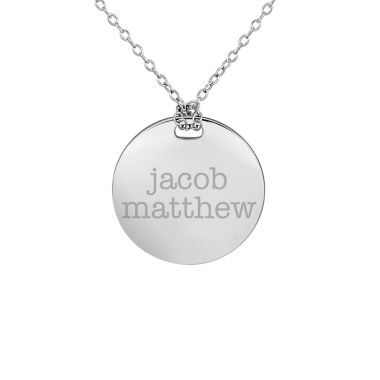 jcpenney.com | Personalized Sterling Silver 19mm Round Couple's Name Pendant Necklace